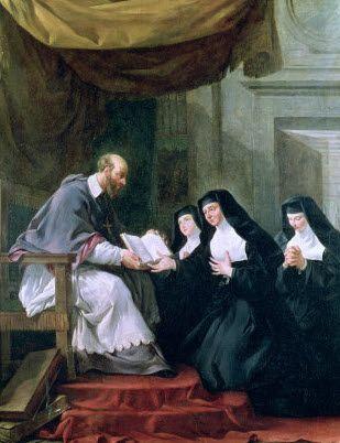 São Francisco de Sales e monjas visitandinas.