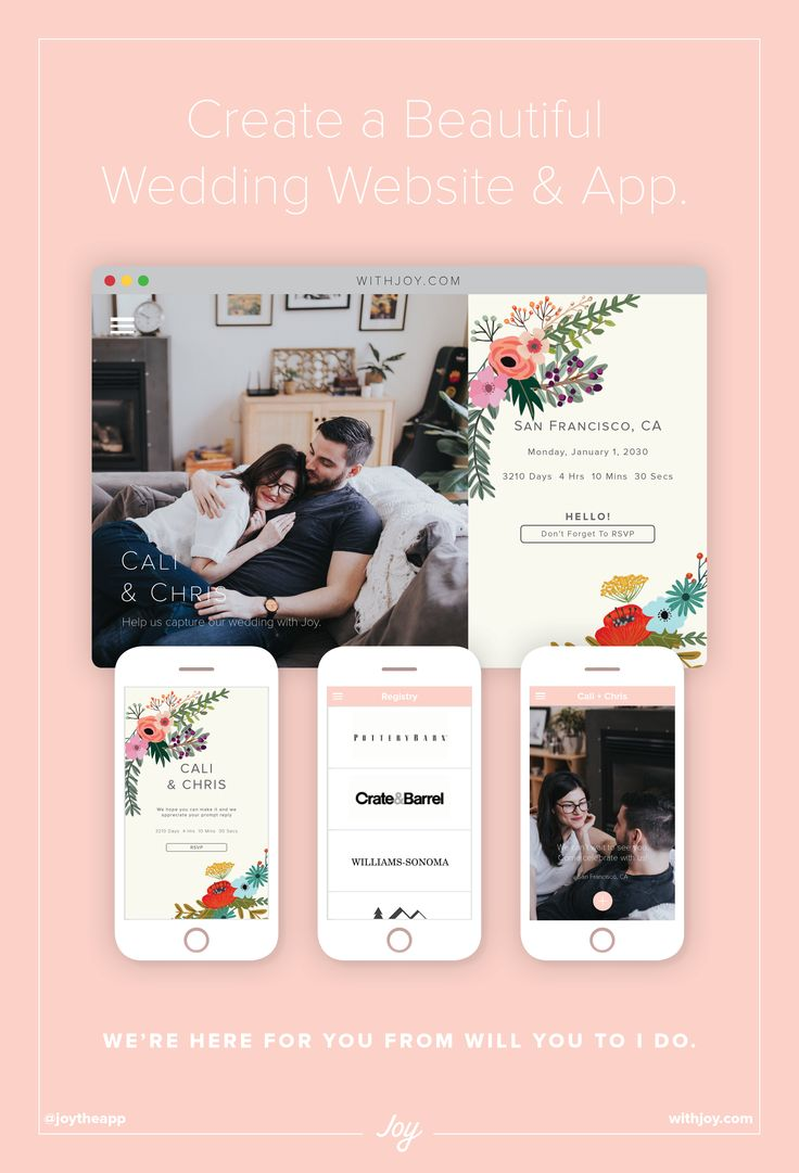 The 34 best Joy Wedding Website Themes images on Pinterest | Bridal ...