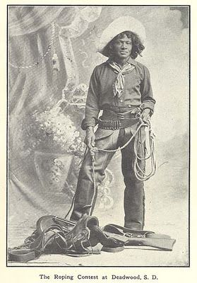 African American Cowboy Nat Love (aka Deadwood Dick), born a slave in 1854 in Tennessee