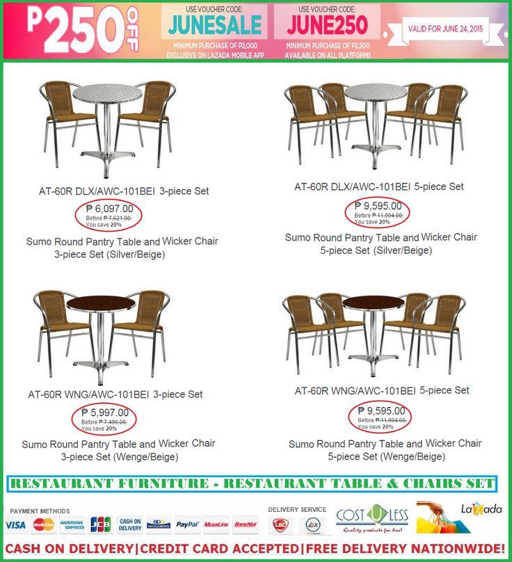 Restaurant furniture sale lazada june promo save p