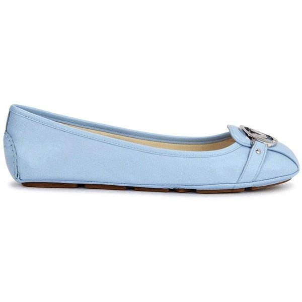 Womens Ballet Flats Michael Kors Fulton Moc Blue Saffiano Leather... (235 NZD) ❤ liked on Polyvore featuring shoes, flats, blue, sapatos, ballet pumps, flat pumps, blue flats, michael michael kors shoes and blue shoes