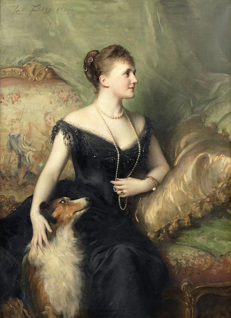 Сэр Сэмюэль Люк Филдс (1843 - 1927) - Портрет миссис Артур Джеймс, 1895