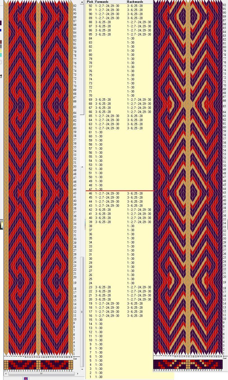 1381 besten Tablet weaving Bilder auf Pinterest | Stricken häkeln ...