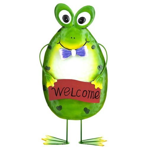 Metal Frog Garden Decoration | Poundland