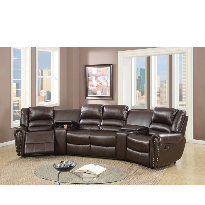 Sanora Motional Home Theater 5 Piece Symmetrical Sectional In 2020