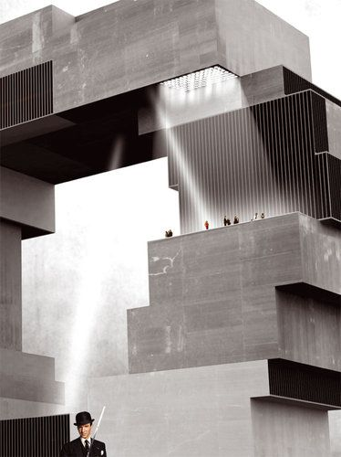 Hamburg Science Center / Rem Koolhaas, OMA / proposal 2008  *If a remake of Alphaville ever...*