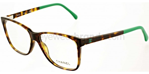 Chanel CH3230 1337 Havana/Green Chanel Designer Glasses Glasses From Eyewearbrands