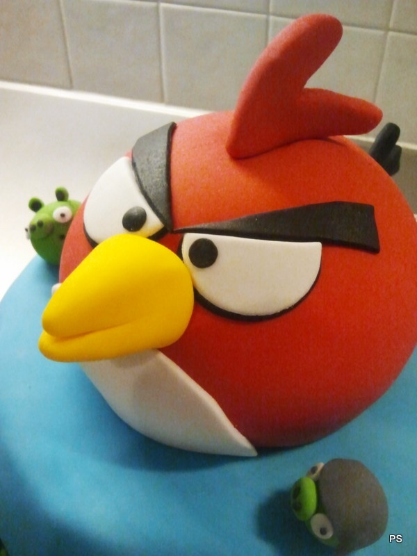 Angry Birds B- Day Cake vol. 2 with strawberry mousse