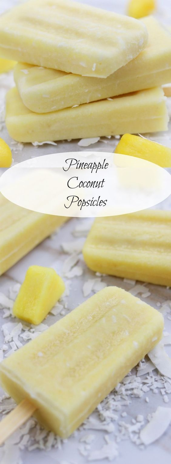 A light and refreshing recipe. Pineapple Coconut Popsicles are a delightful homemade treat perfect for surviving the hot months of summer with no guilt. http://www.thefedupfoodie.com