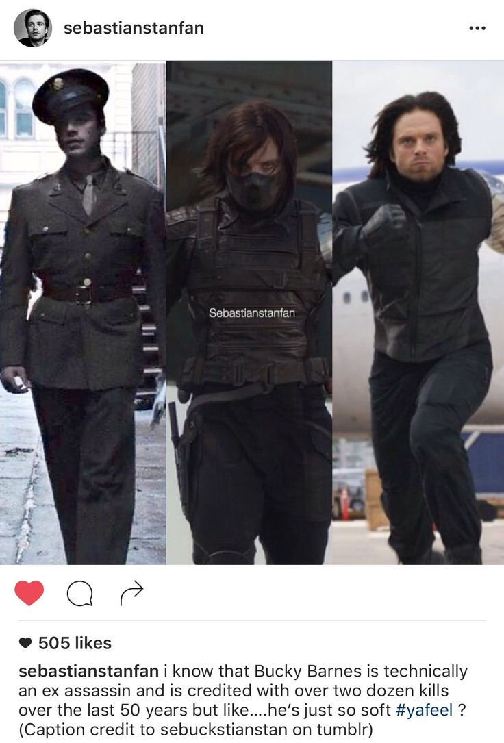 Haha Sebastianstanfan is the best. This has been my favorite Bucky thing ever thank you