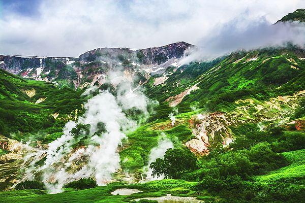 The Legendary Valley Of Geysers. Kamchatka, Russia Photograph by Nadezhda Tikhaia  #NadezhdaTikhaiaFineArtPhotography #ArtForHome #HomeDecor #Nature #Landscapes #InteriorDesign #FineArtPrints