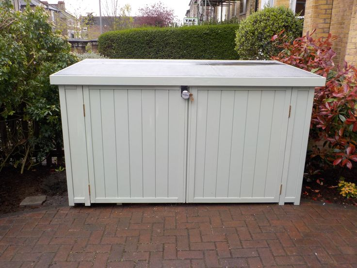 Far more beautiful than a metal shed, but just as secure! Solid timber bike/garden sheds available to match any colour scheme. Hand made in UK with British douglas fir. From £899.