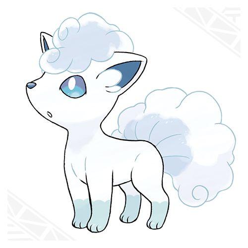 Alolan Vulpix- Ice type with the ability Snow Cloak. Pokémon Sun and Pokémon Moon | Pokemon.com/SunMoon