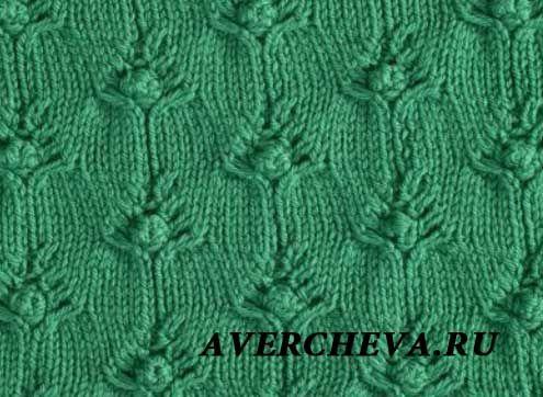 Представляю вашему вниманию новый эффектный узор спицами от Елены Аверчевой. Схема узора: В схеме указаны и лицевые и изнаночные ряды. Раппорт узора 22 петли . В высоту повторяем с 1-го по 16 ряд.  У…