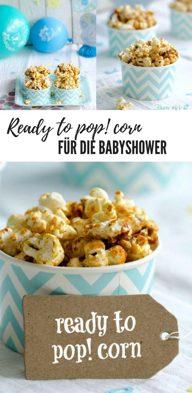 Lustige Rezeptidee für die Babyshower / baby party: ready to pop! corn