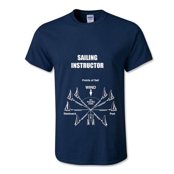 Sailor Gift ideas. Instructeur de voile t-shirt, chemise voile, chemise nautique, cadeau pour lui, tee-shirt marin