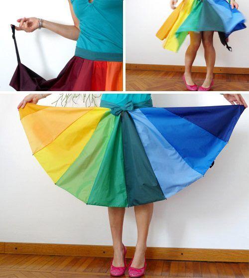 Falda hecha reciclando un paraguas. Oishhh!!!: One Of A Kind Skirts, Recycling Umbrellas, Diy Crafts, Ideas Copiables, Crafts Modernas, Recycled Umbrellas Skirts, Umbrella Skirt, Falda Paraguas Reciclado2