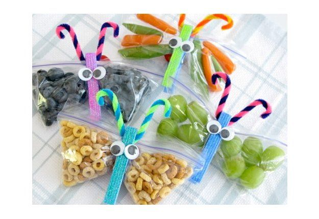 Butterfly bags! Diy idea - Fun lunch box snack ideas   Mouths of Mums