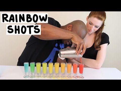 Mason Jar Rainbow jello Shots - TipsyBartender.com