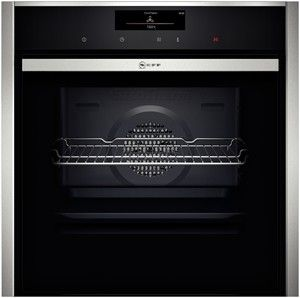 B48CT38N0B  Highlights    Slide&Hide® - the fully retracting oven door       CircoTherm® - Neff's outstanding hot-air system for simultaneous baking and roasting on up to 3 levels       EcoClean - the self-cleaning catalytic coating on the inside top and sides of the oven makes oven cleaning easier.       BottomClean - the special cleaning programme for the oven floor.       FullTouch Control - simple, precise oven control by fingertip touch on the smooth surface of the high resolution TFT…