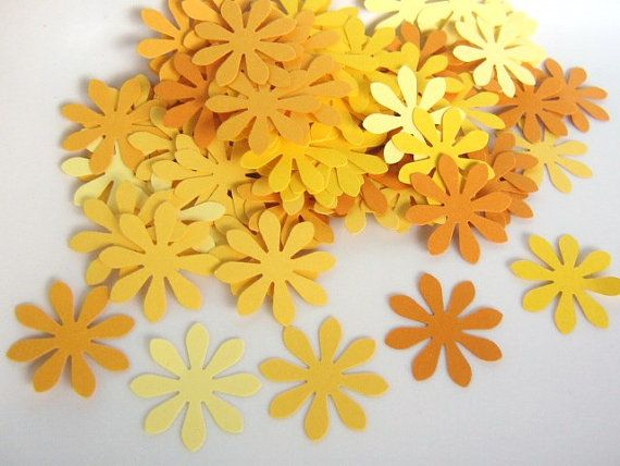 120pcs Flower Confetti 1 Inch Flower Die Cuts by TheKraftyPlace