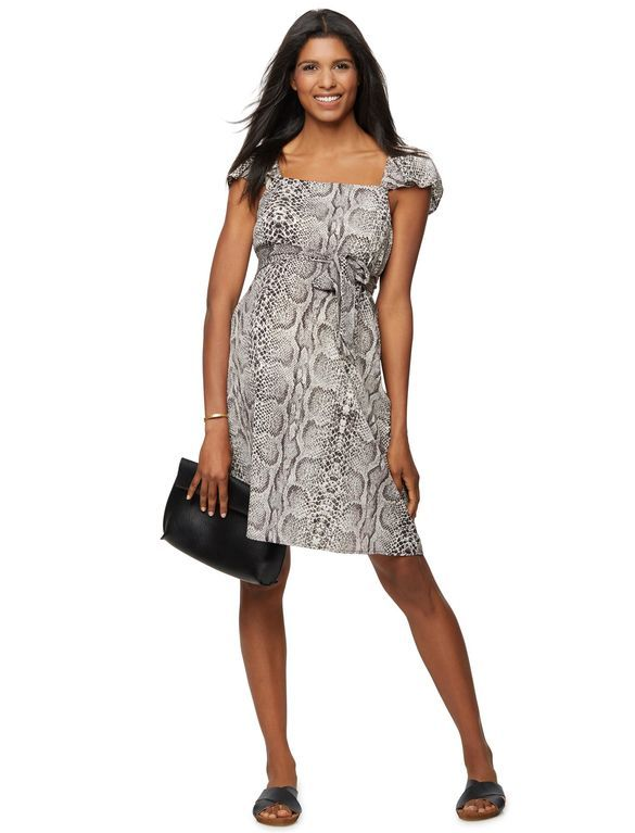 Rachel Zoe Short Print Maternity Dress, Snake Print