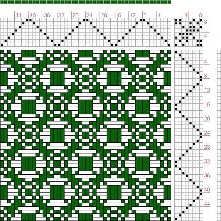 Hand Weaving Draft: Figure 24, Combination Weaves Serial 508, International Textbook Company, 8S, 8T - Handweaving.net Hand Weaving and Draf...