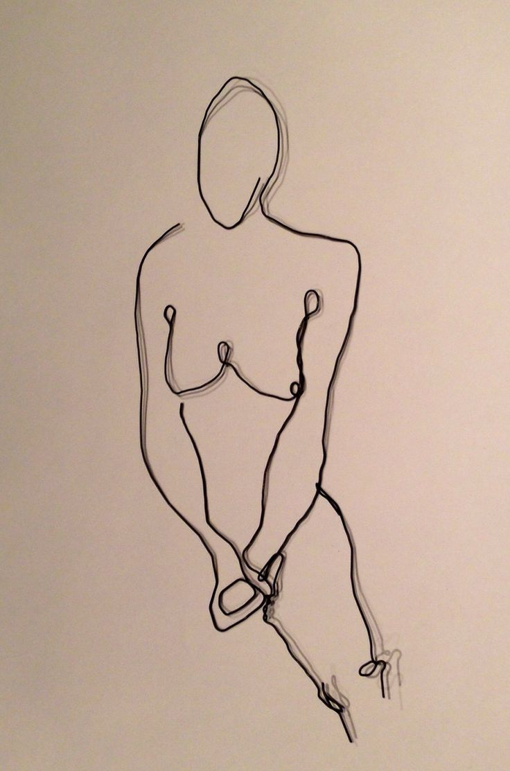 Wire drawing from 'Juliet' by Euan Uglow