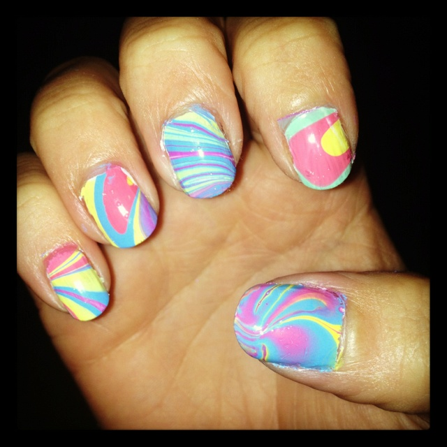 Marble Nail Polish Instructions: 17 Best Images About Marble Nails On Pinterest