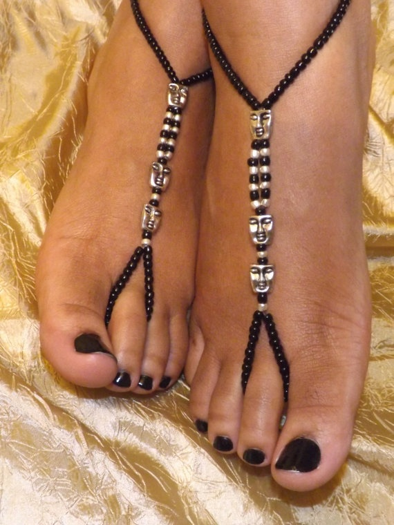 Barefoot sandals Foot jewelry Anklet by SubtleExpressions on Etsy, $17.00