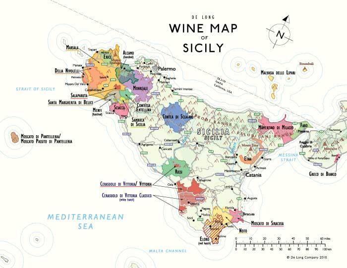 Wine Map of Sicily I wanne goooo :-)