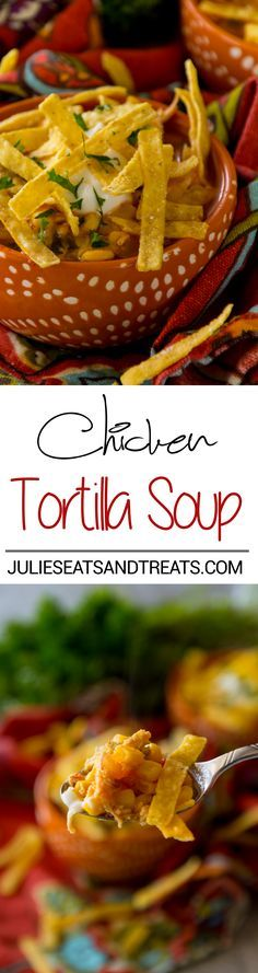 Chicken Tortilla Soup Recipe ~ A Quick, Easy Soup Recipe that is Comforting and Full of Flavor! Make it Tonight for a Perfect Quick Dinner!