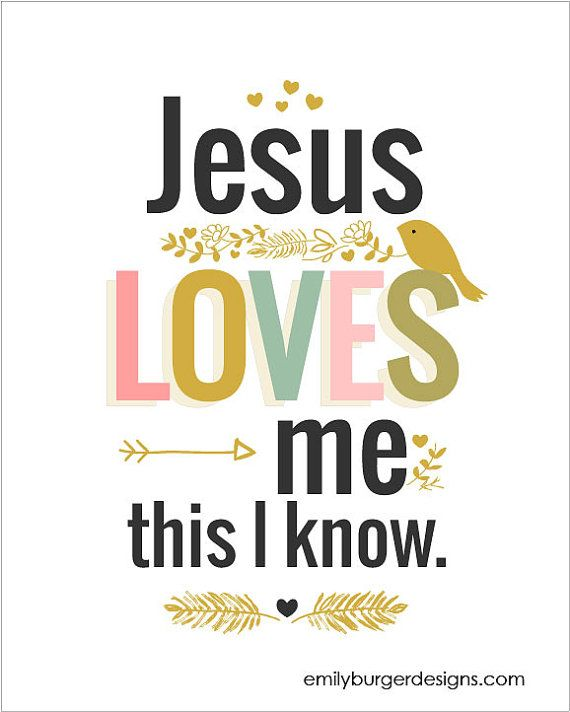 Jesus loves me this I know girls .8 by 10 by EmilyBurgerDesigns, $20.00