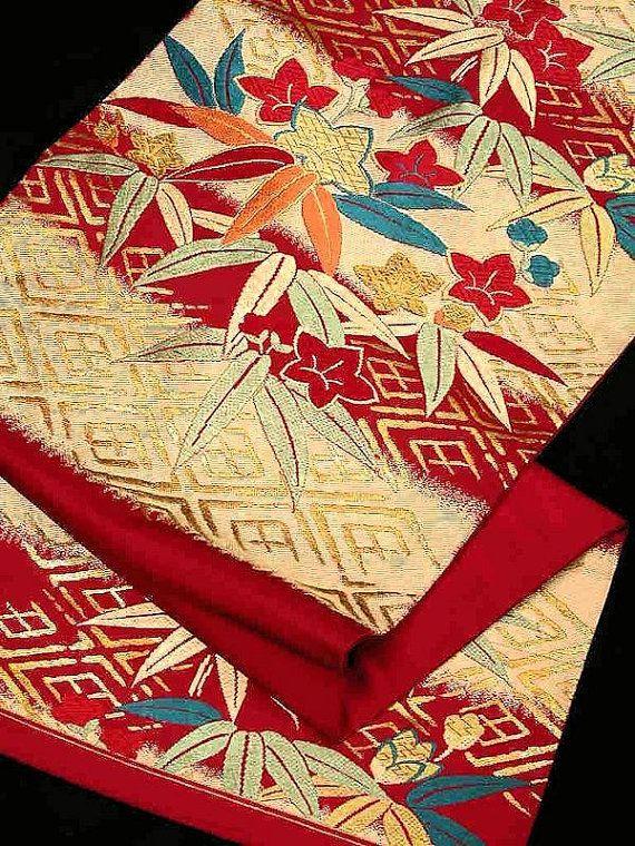Japanese Silk Kimono Obi Sash Obi Belt Nagoya Obi