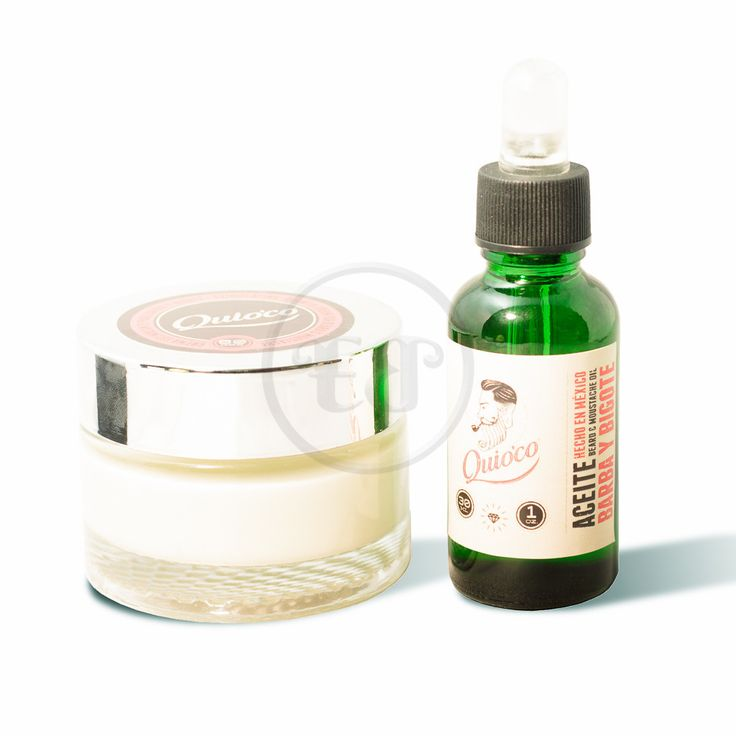 Quioco - Crema y Aceite para crecimiento de barba y bigote | Emperador Barbudo