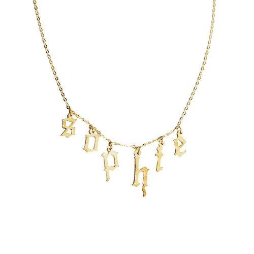 5 Necklace Trends That'll Be Everywhere In 2017 #refinery29  http://www.refinery29.com/new-necklace-trends#slide-1  New-Wave PersonalizationBeyond the SJP-inspired nameplate (which has at this point been under fire for being cultural appropriation), personalized necklaces are going strong. Bella Hadid's been seen wearing this one on the regular. Whether it's an initialed dog tag or a more minimalist take on the nameplate, you can wear your name proud in 2017.Danielle Guizio<...