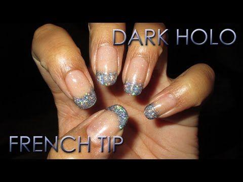 Dark Holo French Tip | DIY Nail Art Tutorial - YouTube
