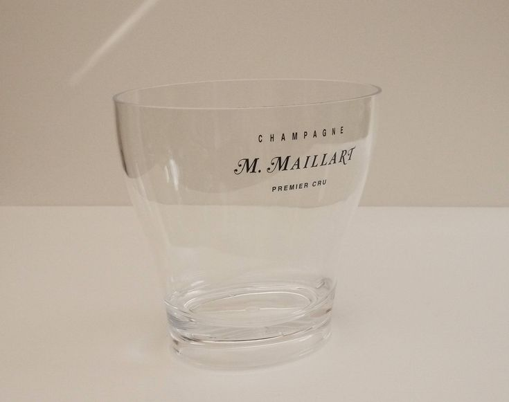 Large Seau à Champagne M. Maillart  Plastique Cristal pour 2 Bouteilles, Oversized French Champagne Cooler, Ice Bucket, Party Bottle Bucket de la boutique LaMachineaBrocantes sur Etsy