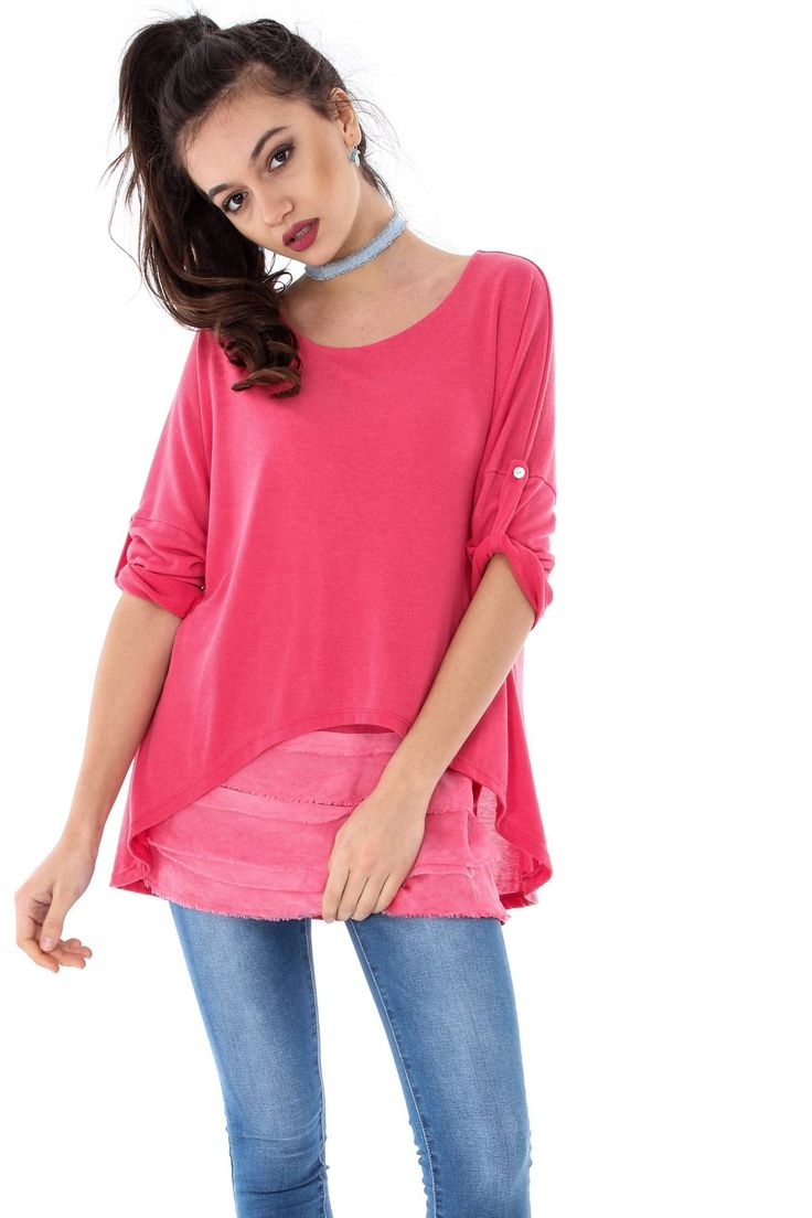 Bluza eleganta, ROH, -cu volane-BR1694