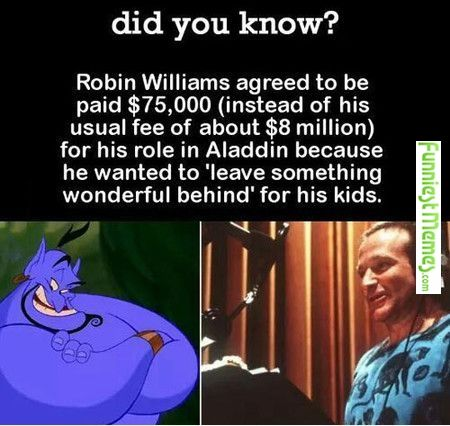 Almost made me cry when I read this. Love you Robin Williams.