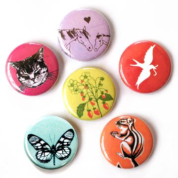 girl party pins by little lark