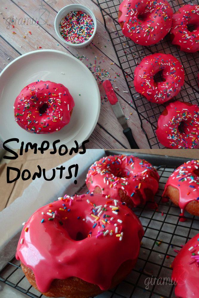 simpsons donuts nom nom pinterest doughnut doughnuts and desserts rh pinterest co uk
