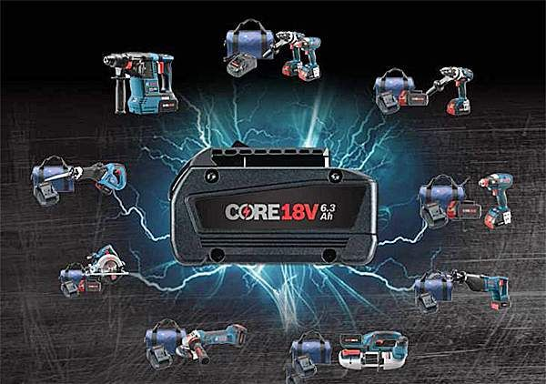 Learn more about the new 18-volt battery, employing advanced lithium-ion technology, promises to deliver 80 percent more power than previous Bosch cordless tool batteries.