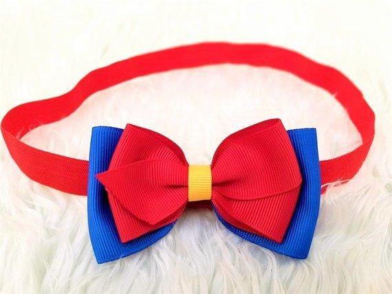 Hair clips Disney Princess SNOW WHITE princess hair bow