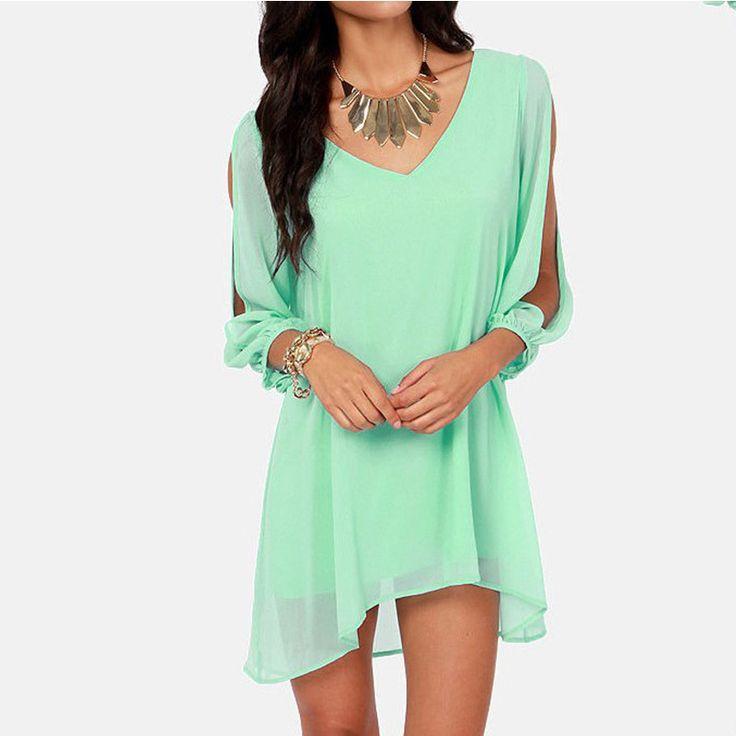 2016 New Summer Chiffon Short Dress Women Loose Sexy V Neck Strapless A-line Casual Mini Shirt Dress White Beach Dresses