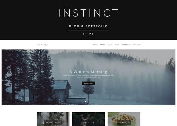 ThemeForest - Instinct - Blog & Portfolio Template Free Download