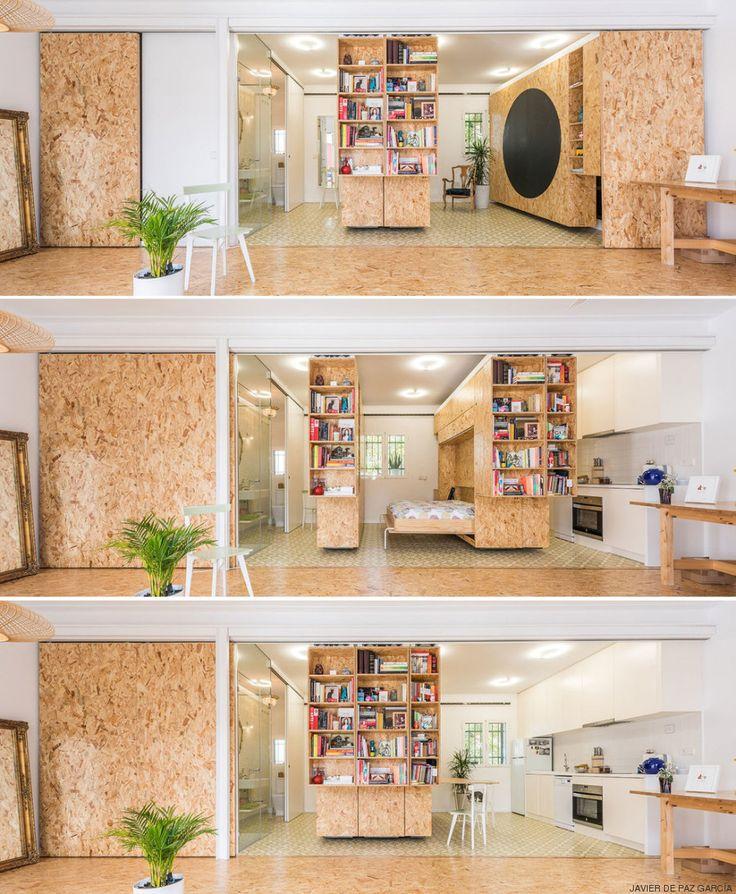 Paredes que se mueven: una solución para casas pequeñas o con problemas de espacio (VÍDEOS, FOTOS)