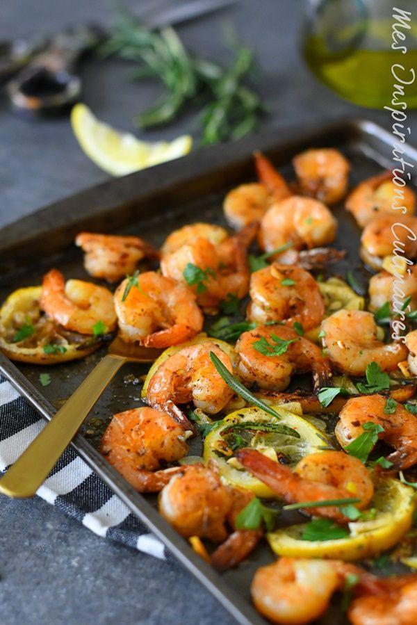 Crevettes au four (Zitrone, Romarin) #Shrimp #Röstgarnele #Einfachrezept #Rezepte …