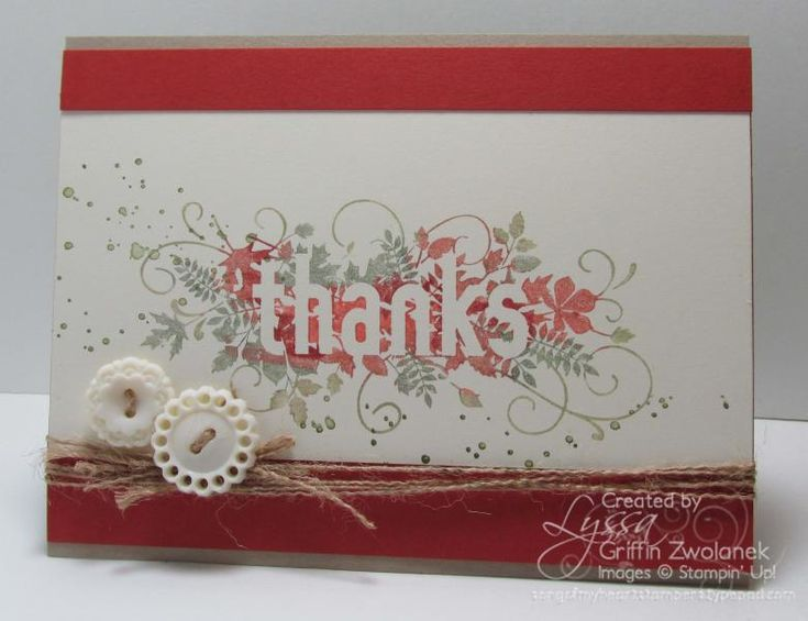 Seasonally Scattered Fall Thank You Card by GWTW Junkie - Cards and Paper Crafts at Splitcoaststampers