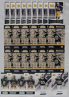 Lot 25 Contenders Draft Picks TOM BRADY Old School Colors College Connections